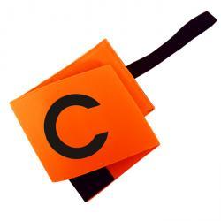 Brassard capitaine velcro Orange Fluo - 9 cm