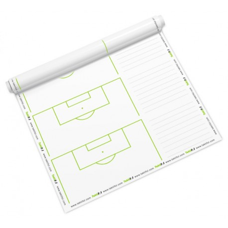 Taktifol Football - rouleau 25 feuilles - Surfaces+notes