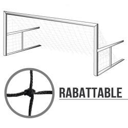 Filets de foot à 8 rabattables : 6x2.1x2.5m