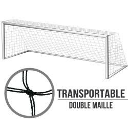 Filets transportables foot à 8 : 6x2.1x1.7m