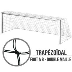 Filets de foot à 8 Trapézoïdal : 6x2.1x1.7m