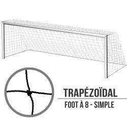 Filets de foot à 8 simple : 6x2.1x2m