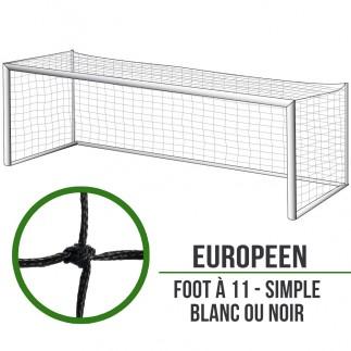 Filets de foot à 11 simple : 7.5x2.5x2m