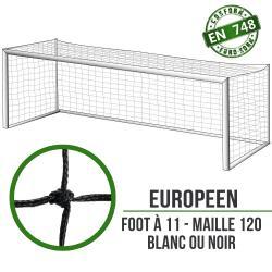 Filets de foot à 11 à la norme : 7.5x2.5x2x2m