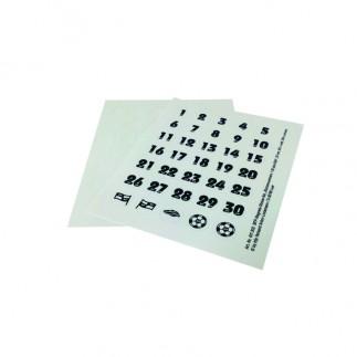 Etiquette ensemble de nombre (20mm)