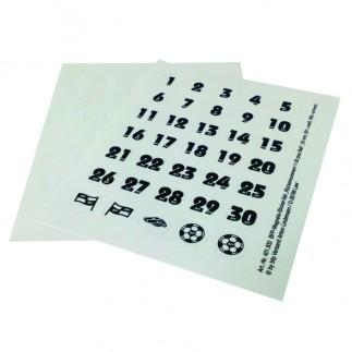 Etiquettes ensemble de nombre pour magnets 30 mm