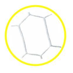 Paire de filet beach soccer - Blanc