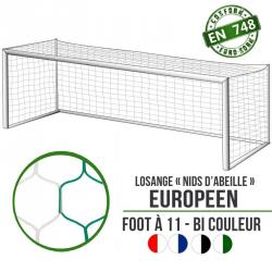 Filets foot losange bi-couleur: 7.5x2.5x2x2m