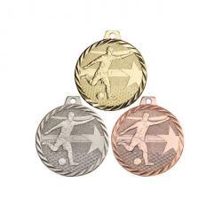 Médaille Foot Or, Argent, Bronze - 50 mm