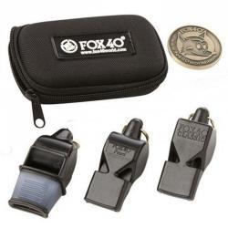 Pack de 3 sifflets FOX avec étui