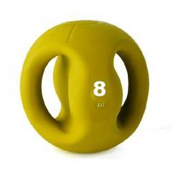 Médecine ball avec poignée 8kg - Jaune