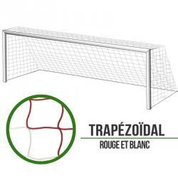 Filets foot à 11 Trapézoïde - Rouge/Blanc