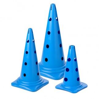 Cône 12 trous - Bleu - 23 à 50 cm
