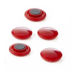 Lot de 5 aimants épais - Rouge - 30 mm