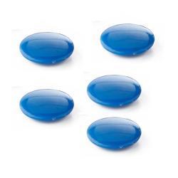 Lot de 5 aimants épais - Bleu - 30 mm