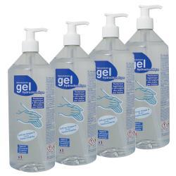 Lot 6 flacons gel hydroalcoolique - 1L