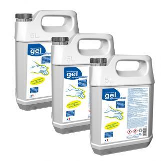 Lot 4 bidons gel hydroalcoolique - 5L