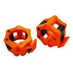 Stop disque barre olympique, orange - ⌀ 50 mm